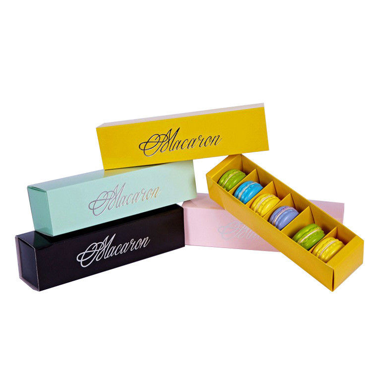 Food Grade Macaron Packaging Boxes Corrugated Paper Archaize Style Eco Friendly