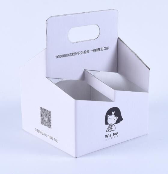 Multifunction Take Away Tea And Coffee Packaging Box Corrugate Paper Material